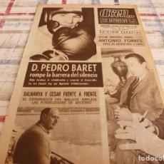 Coleccionismo deportivo: DICEN(24-2-65)PEDRO BARET,ANTONIO TORRES(BOXEO)BALMANYA Y CÉSAR,ESQUI ESPAÑOL,CONDAL.. Lote 97216155