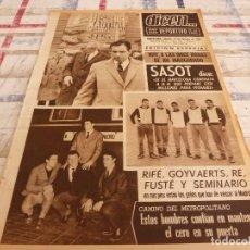 Coleccionismo deportivo: DICEN(27-2-65)BARÇA ESPERA AL R.MADRID Y AT.MADRID AL ESPAÑOL,PIRRI(R.MADRID)III SALON NAUTICO BARNA. Lote 97216743