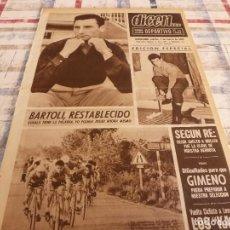 Coleccionismo deportivo: DICEN(2-3-65)RE(BARÇA)VII RALLY ÉPOCA BARNA-SITGES,CICLISMO VUELTA LEVANTE,GENTO(R.MADRID). Lote 97217499