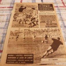 Coleccionismo deportivo: DICEN(5-3-65) BARÇA 1 ELCHE 1,PAZOS,MURCIA-ESPAÑOL,AT.MADRID 3 CÓRDOBA 0,REINA.. Lote 97221595