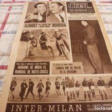 Coleccionismo deportivo: DICEN(27-3-65)BERGARA(MALLORCA)BARÇA A OVIEDO,MAÑANA INTER-MILÁN,MOSSEN BORRÁS,CARMELO.. Lote 97377831