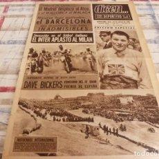Coleccionismo deportivo: DICEN(29-3-65)ESPAÑOL 2 LEVANTE 1,OVIEDO 2 BARÇA 0,FLASH 1ª Y 2ª DIVISIÓN.. Lote 97378575