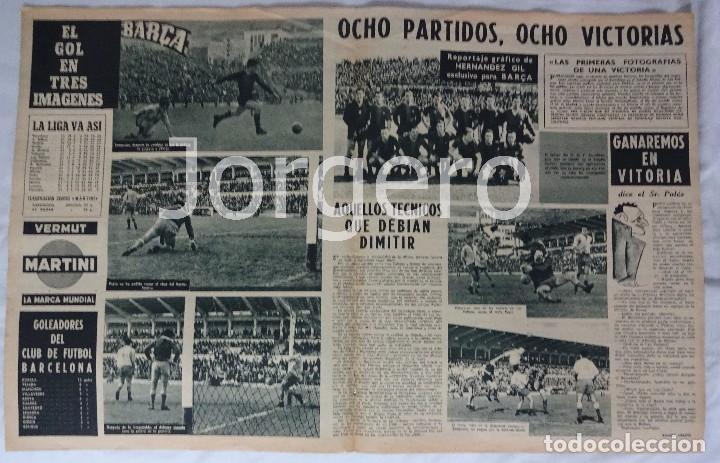 Coleccionismo deportivo: REVISTA BARÇA. Nº 10 FEBRERO 1956. LAS PALMAS 0 BARCELONA 1 - Foto 2 - 98212303