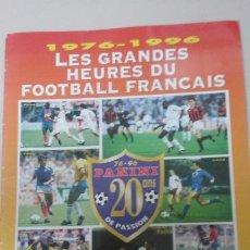 Coleccionismo deportivo: REVISTA ONZE MONDIAL . ESPECIAL 1976-1996. 20 AÑOS DE PANINI. Lote 98500287