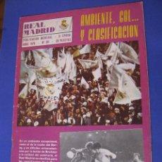 Coleccionismo deportivo: REVISTA REAL MADRID. PUBLICACIÓN MENSUAL. 1976. Nº 311. SIN POSTER. . Lote 98795579
