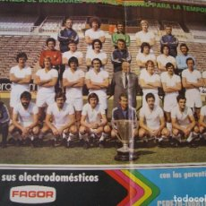 Coleccionismo deportivo: POSTER DE LA REVISTA REAL MADRID. PUBLICACIÓN MENSUAL. 1976. Nº 317. PLANTILLA DE TEMPORADA 1976-77.. Lote 98796799