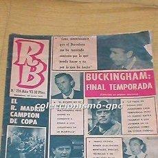 Coleccionismo deportivo: R.B. REVISTA BARCELONISTA 30 JUNIO 1970 FUTBOL REAL MADRID CAMPEON COPA VALENCIA CF VIC BUCKINGHAM. Lote 99136915