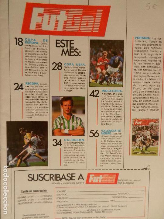 Coleccionismo deportivo: FUT GOL CAMPEONES AÑO 1 Nº 3 JUNIO 1987. VISTO PARA SENTENCIA. - Foto 2 - 99364123