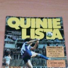 Coleccionismo deportivo: QUINIELISTA - AÑO II - NUMERO 34 - 1983 - INCLUYE POSTER - VER FOTOS - PERFECTO ESTADO. Lote 181893426