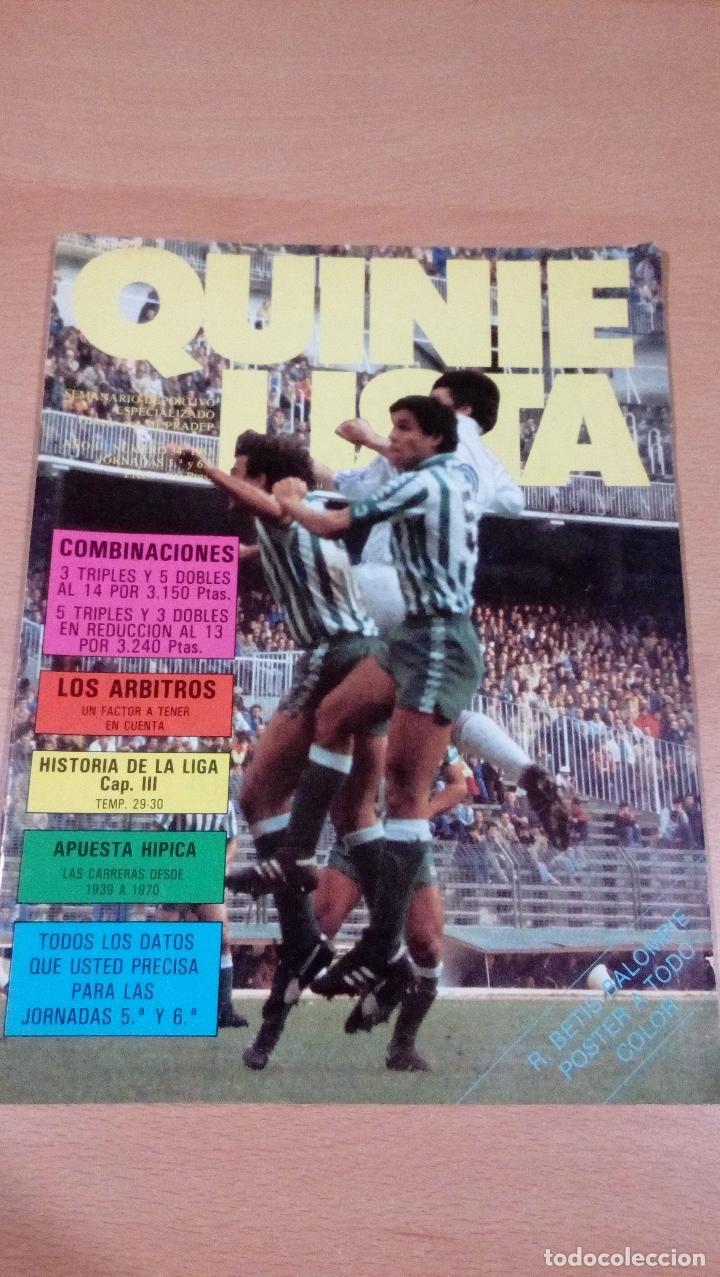 QUINIELISTA - AÑO II - NUMERO 34( ERROR ES 35) - 1983 - INCLUYE POSTER REAL BETIS - VER FOTOS - (Coleccionismo Deportivo - Revistas y Periódicos - otros Fútbol)