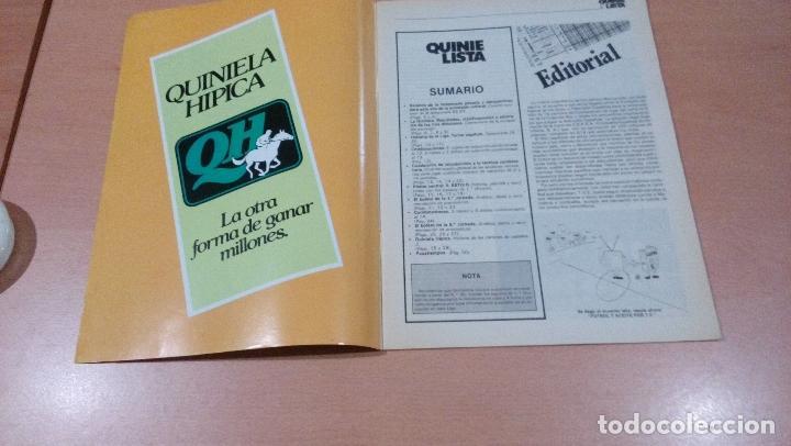 Coleccionismo deportivo: quinielista - año II - numero 34( error es 35) - 1983 - incluye poster real betis - ver fotos - - Foto 3 - 99472463