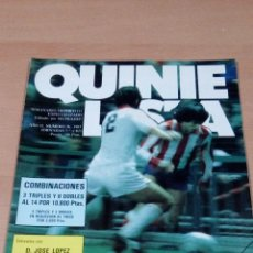 Coleccionismo deportivo: QUINIELISTA - AÑO II - NUMERO 36 - 1983 - INCLUYE POSTER ATLETICO MADRID- VER FOTOS - . Lote 99472583