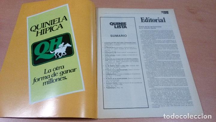 Coleccionismo deportivo: quinielista - año II - numero 36 - 1983 - incluye poster atletico madrid- ver fotos - - Foto 3 - 99472583