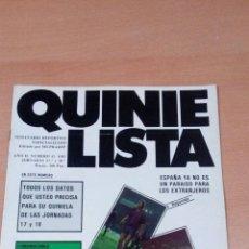 Coleccionismo deportivo: QUINIELISTA - AÑO II - NUMERO 43 - 1983 - NO INCLUYE POSTER MARADONA - VER FOTOS -. Lote 99473811