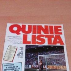 Coleccionismo deportivo: QUINIELISTA - AÑO II - NUMERO 51 - 1984 - INCLUYE POSTER SEVILLA - VER FOTOS -. Lote 99474699