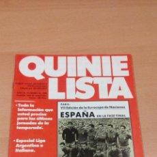 Coleccionismo deportivo: QUINIELISTA - AÑO II - NUMERO 54- 1984 - INCLUYE POSTER SELECCION Y VARIOS JUGADORES - VER FOTOS -. Lote 99475247