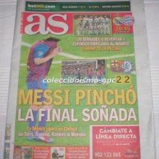 Coleccionismo deportivo: AS 25/4/2012 CHAMPIONS LEAGUE LIGA DE CAMPEONES SEMI FINAL FC BARCELONA CHELSEA REAL MADRID PREVIA. Lote 174433628