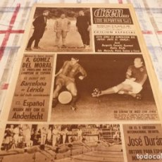 Coleccionismo deportivo: DICEN(23-8-65)!!!LLEIDA 1 BARÇA 3 !!PROXIMO BARÇA-INTER,EULOGIO MARTINEZ FICHA C.D.EUROPA,JOSÉ DURÁN. Lote 99796267