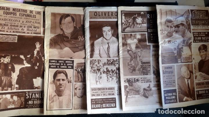LOTE DE 5 DIARIOS DEPORTIVOS DICEN FINALES DE LOS 60 , VER FOTOS (Coleccionismo Deportivo - Revistas y Periódicos - otros Fútbol)