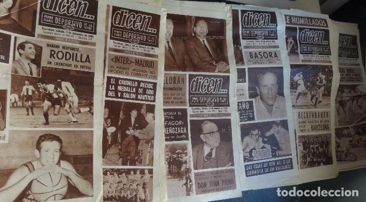 LOTE DE 6 DIARIOS DEPORTIVOS DICEN FINALES DE LOS 60 , VER FOTOS (Coleccionismo Deportivo - Revistas y Periódicos - otros Fútbol)