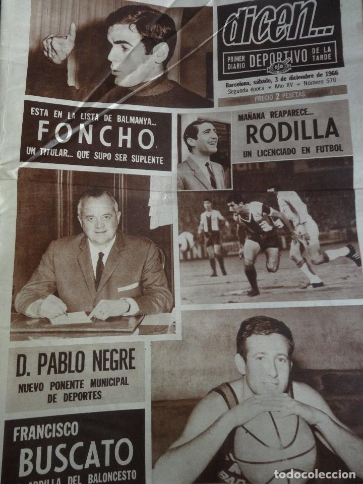 Coleccionismo deportivo: LOTE DE 6 DIARIOS DEPORTIVOS DICEN FINALES DE LOS 60 , VER FOTOS - Foto 13 - 99921019