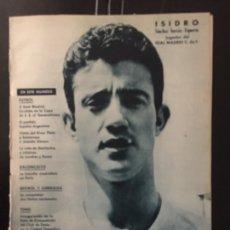 Coleccionismo deportivo: REVISTA REAL MADRID.N 134-1961. COPA.ESPAÑA-ARGENTINA.RIVER PLATE.COPA EUROPA. Lote 100014984