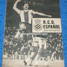 Colecionismo desportivo: R.C.D. ESPAÑOL Nº 2 NOVIEMBRE 1974 REVISTA GRAFICA MENSUAL RCD ESPANYOL SOLSONA CRISANTO BOSCH. Lote 100025999