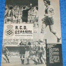 Coleccionismo deportivo: R.C.D. ESPAÑOL Nº 6 MARZO 1975 REVISTA GRAFICA MENSUAL RCD ESPANYOL FELIX LLIMOS GLARIA DE FELIPE. Lote 100028903