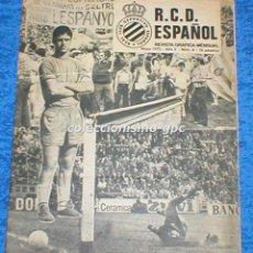 Coleccionismo deportivo: R.C.D. ESPAÑOL Nº 8 MAYO 1975 REVISTA GRAFICA MENSUAL RCD ESPANYOL SANTAMARIA RAMOS OZORIO MELER. Lote 100030131