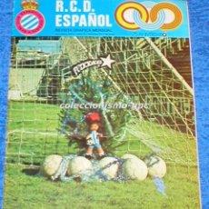 Coleccionismo deportivo: R.C.D. ESPAÑOL Nº 13 DICIEMBRE 1975 REVISTA GRAFICA MENSUAL RCD ESPANYOL LIGA FUTBOL SANTAMARIA MIRA. Lote 100032663