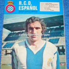 Coleccionismo deportivo: R.C.D. ESPAÑOL Nº 17 ABRIL 1976 REVISTA GRAFICA MENSUAL RCD ESPANYOL ROBERTO CINO AMIANO CASZELY . Lote 100063915