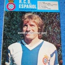 Coleccionismo deportivo: R.C.D. ESPAÑOL Nº 29 MAYO 1977 REVISTA GRAFICA MENSUAL RCD ESPANYOL LIGA FUTBOL VERDUGO JOSE MAURI. Lote 100068771