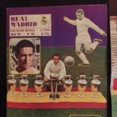 Coleccionismo deportivo: REVISTA REAL MADRID. N 254-1971.HAJDUK SPLIT,4-REAL MADRID,2. Lote 100106688