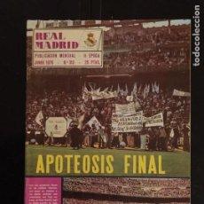 Coleccionismo deportivo: REVISTA REAL MADRID-N 313-1976. CAMPEÓN DE LIGA.APOTEOSIS FINAL. Lote 100268611