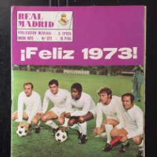 Coleccionismo deportivo: REVISTA REAL MADRID-N 272-1973.R.MADRID-OS BELENENSES. PÓSTER. Lote 100306331