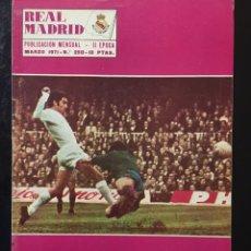 Coleccionismo deportivo: REVISTA REAL MADRID-250-1971.CARDIFF. BARCELONA,-R.MADRID,1. Lote 100571067