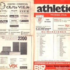 Coleccionismo deportivo: PROGRAMA OFICIAL RACING SANTANDER - ATHLETIC CLUB BILBAO. ALINEACIONES. 22 DE FEBRERO DE 1976. Lote 101071799