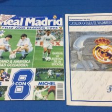 Coleccionismo deportivo: REVISTA REAL MADRID-64-1995. POSTER Y CATÁLOGO. Lote 101167286