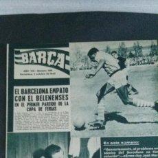 Coleccionismo deportivo: REVISTA BARÇA 358-1962. Lote 101216231