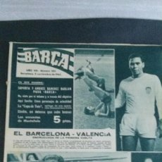 Coleccionismo deportivo: REVISTA BARÇA 363-1962. Lote 101216555