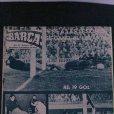 Coleccionismo deportivo: REVISTA BARÇA 481-1965. Lote 101227087