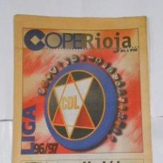 Coleccionismo deportivo: SUPLEMENTO DE COPE RIOJA. CLUB DEPORTIVO LOGROÑES. TEMPORADA LIGA 96/97. TDKPR2. Lote 102023271