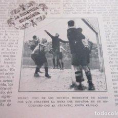 Coleccionismo deportivo: RECORTE 1929 - RICARDO ZAMORA ESPAÑOL ATHLETIC BILBAO. Lote 103047535