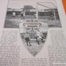 Coleccionismo deportivo: RECORTE 1928 - MADRID REAL MADRID CONTRA ATHLETIC BILBAO. Lote 103116351