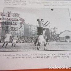 Coleccionismo deportivo: RECORTE 1928 - SAN SEBASTIAN IZAGUIRRE REAL SOCIEDAD PATRIA - MADRID RICARDO ZAMORA FRONTON JAI ALAI. Lote 103116951
