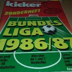 Coleccionismo deportivo: EXTRA KICKER BUNDESLIGA 1986/1987. MUY BUEN ESTADO. 230 PAGINAS. Lote 103224911