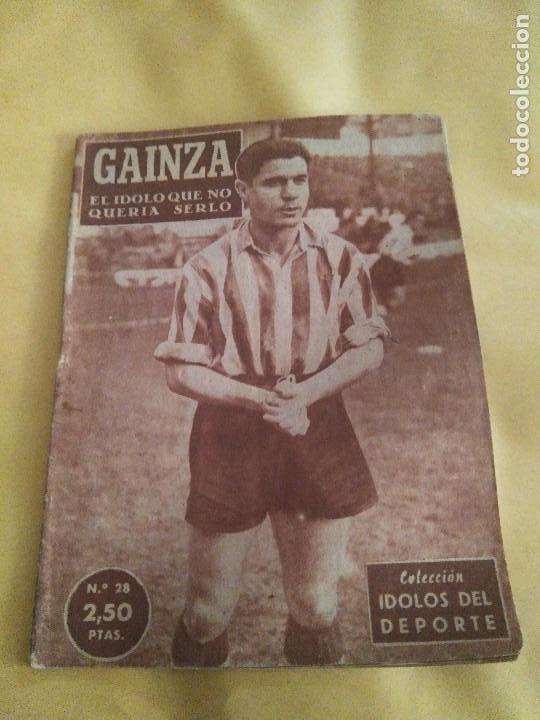 COLECCION IDOLOS DEL DEPORTE 28 GAINZA (Coleccionismo Deportivo - Revistas y Periódicos - otros Fútbol)