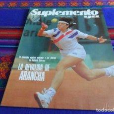 Coleccionismo deportivo: SUPLEMENTO SEMANAL YA Nº 135. 27-5-1990. ARANCHA SÁNCHEZ VICARIO VUELVE A ROLAND GARROS. MBE.. Lote 103393711