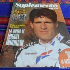 Coleccionismo deportivo: SUPLEMENTO SEMANAL YA Nº 130. 22-4-1990. MIGUEL INDURAIN EN LA VUELTA A ESPAÑA.. Lote 103393843