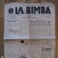 Coleccionismo deportivo: LA BIMBA - ANY I - NUM. 1- -FUTBOL- HECTOR SCARONE -BARCELONA-ANY 1926 - VER FOTOS - (V- 12.690). Lote 103422103